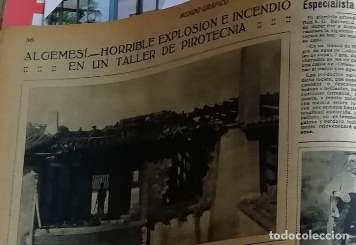 Coleccionismo de Revistas y Periódicos: mundo grafico 1931 VIGO - ZUMAYA -ALBALATE DE CINCA (HUESCA)-ALGEMESI - Foto 5 - 166907652