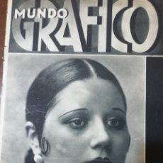 Coleccionismo de Revistas y Periódicos: MUNDO GRAFICO 1931 VIGO - ZUMAYA -ALBALATE DE CINCA (HUESCA)-ALGEMESI. Lote 166907652