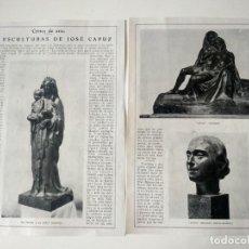Coleccionismo de Revistas y Periódicos: REPORTAJE REVISTA ORIGINAL ANTIGUO. LAS ESCULTURAS DE JOSÉ CAPUZ. Lote 167011228
