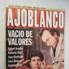 Coleccionismo de Revistas y Periódicos: AJOBLANCO REVISTA Nº 44 1992 EL ÚLTIMO AHIJADO DE ALMODOVAR, MOSCU TECNO, CYBERPUNK, NACIONALISMOS. Lote 167070296