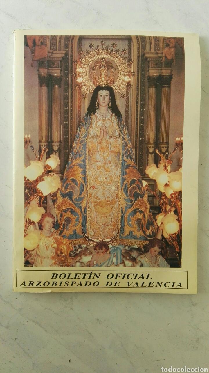BOLETIN OFICIAL ARZOBISPADO DE VALENCIA (Coleccionismo - Revistas y Periódicos Modernos (a partir de 1.940) - Otros)