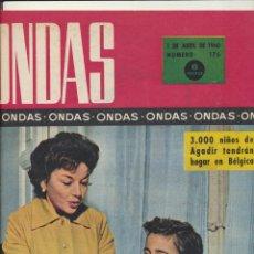 Coleccionismo de Revistas y Periódicos: ONDAS Nº 176. ABRIL 1960 (MARILYN MONROE Y GELN FORD. HUELGA EN HOLLYWOOD). Lote 167116452