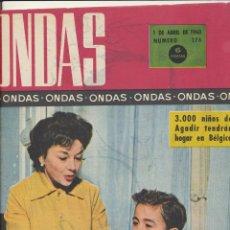 Coleccionismo de Revistas y Periódicos: ONDAS Nº 176. ABRIL 1960 (MARILYN MONROE Y GELN FORD. HUELGA EN HOLLYWOOD). Lote 167116472