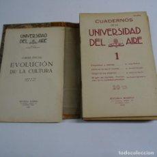 Coleccionismo de Revistas y Periódicos: CUADERNOS DE LA UNIVERSIDAD DEL AIRE. CURSO INICIAL EVOLUCION DE LA CULTURA 1932- 33. LA HABANA CUBA. Lote 167147068