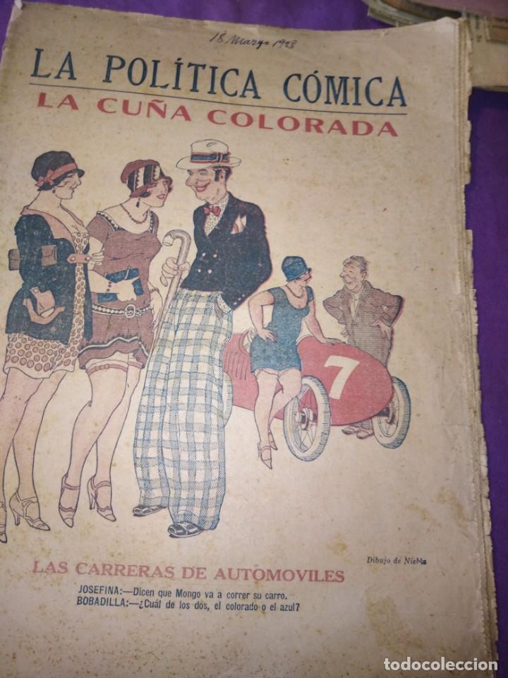 Coleccionismo de Revistas y Periódicos: LA POLITICA COMICA EROTICO SEMANARIO SATIRICO ILUSTRADO LA HABANA 1928 - Foto 2 - 167412832