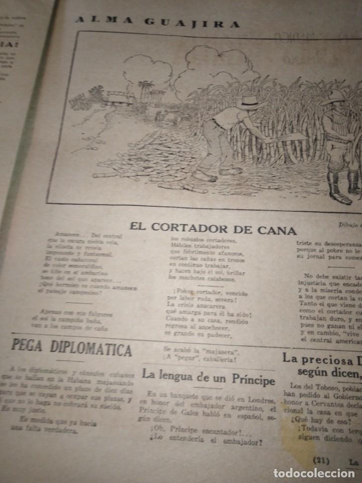 Coleccionismo de Revistas y Periódicos: LA POLITICA COMICA EROTICO SEMANARIO SATIRICO ILUSTRADO LA HABANA 1928 - Foto 7 - 167412832