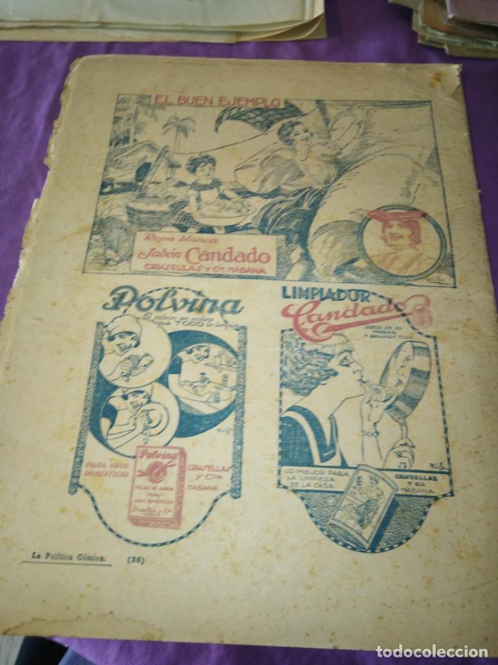 Coleccionismo de Revistas y Periódicos: LA POLITICA COMICA EROTICO SEMANARIO SATIRICO ILUSTRADO LA HABANA 1928 - Foto 8 - 167412832