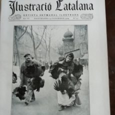 Coleccionismo de Revistas y Periódicos: ILUSTRACIÓ CATALANA Nº341 1909 FOTO SANTA COLOMA FARNERS PARROQUIA RIUDARENES CARRER DE RUPIT. Lote 167455244