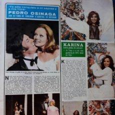 Coleccionismo de Revistas y Periódicos: KARINA PEDRO OSINAGA LUISA HERNAN MAYTE BLASCO. Lote 167470072
