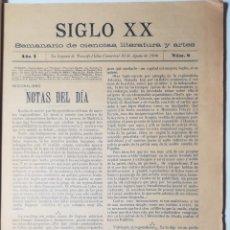 Coleccionismo de Revistas y Periódicos: SIGLO XX. RECOPLIACIÓN ENCUADERNADA.TENERIFE. CANARIAS. 1900 - 1901.. Lote 167655384