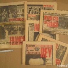 Coleccionismo de Revistas y Periódicos: PERIÓDICOS MUERTE FRANCO 22 1975. Lote 167675796