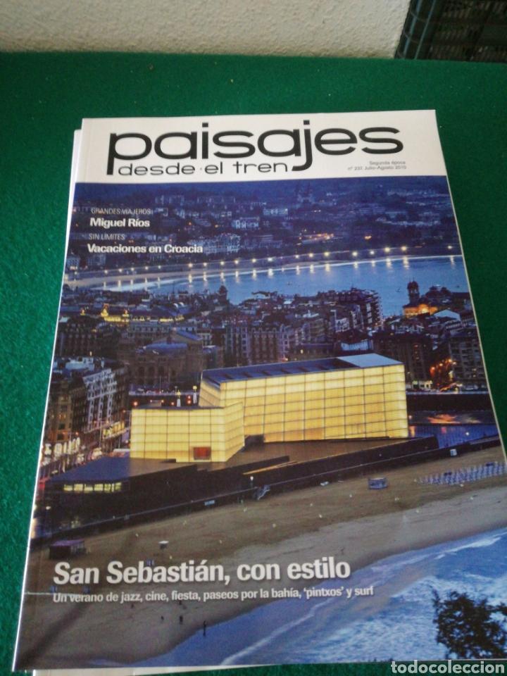 LOTE REVISTAS PAISAJES DESDE EL TREN (Coleccionismo - Revistas y Periódicos Modernos (a partir de 1.940) - Otros)