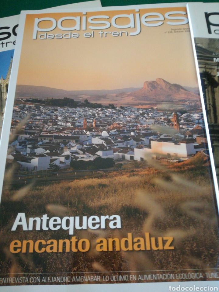 Coleccionismo de Revistas y Periódicos: LOTE REVISTAS PAISAJES DESDE EL TREN - Foto 3 - 167692358