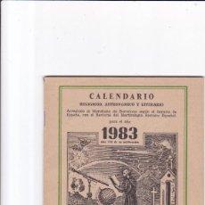 Coleccionismo de Revistas y Periódicos: CALENDARIO - RELIGIOSO, ASTRONOMICO Y LITERARIO - FRAY RAMON / ERMITAÑO DE LOS PIRINEOS 1983. Lote 167868316