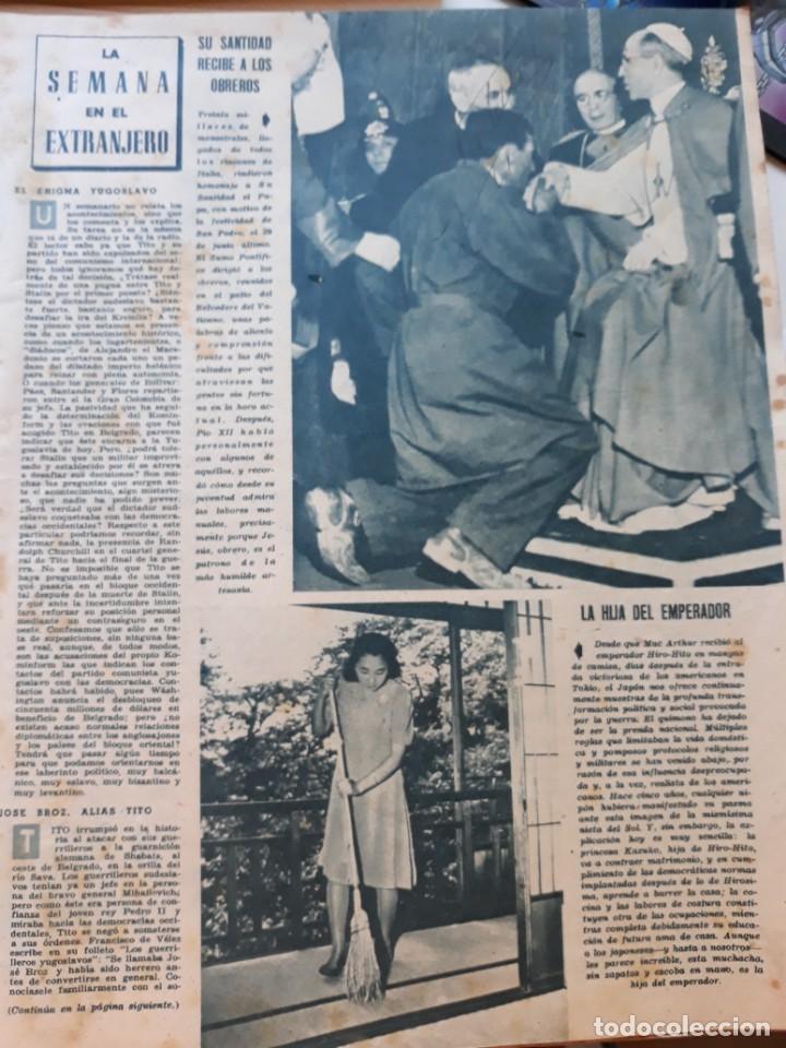 1948 PAPA PIO XII LA PRINCESA KARUKO DE JAPON HIROHITO (Coleccionismo - Revistas y Periódicos Modernos (a partir de 1.940) - Otros)
