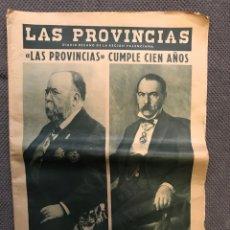 Coleccionismo de Revistas y Periódicos: LAS PROVINCIAS. PERIÓDICO VALENCIANO. LAS PROVINCIAS CUMPLEN 100 AÑOS (A.1966). Lote 167968860