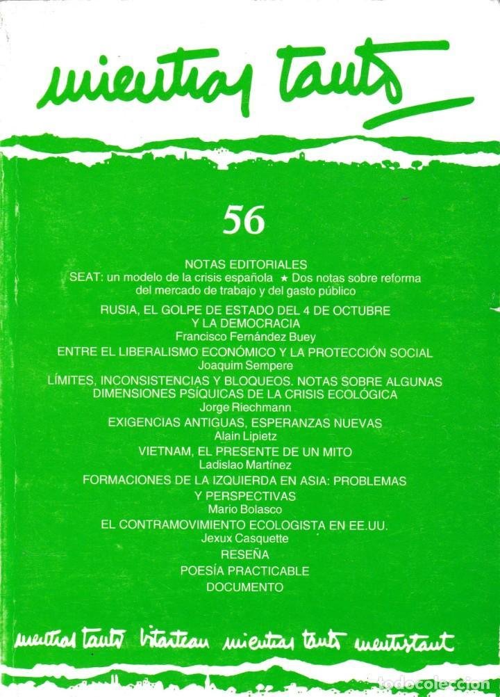 MIENTRAS TANTO - Nº 56 - DICIEMBRE 1993 / ENERO 1994 (Coleccionismo - Revistas y Periódicos Modernos (a partir de 1.940) - Otros)