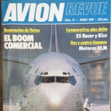 Colecionismo de Revistas e Jornais: AVIONREVUE LOTE DE 12 NÚMEROS. AÑO 1990. Lote 168225352