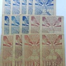Coleccionismo de Revistas y Periódicos: 14 REVISTAS / HELIOS / AÑOS 1925-1926 / SOCIEDADES VEGETARIANO - NATURISTA / VALENCIA - ALICANTE. Lote 168270136