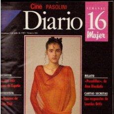 Coleccionismo de Revistas y Periódicos: 1987 DIARIO 16 - TOMO DESDE EL 5 DE JULIO A 27 DICIEMBRE DE 1987. VER FOTOGRAFÍAS.. Lote 168270992