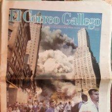 Coleccionismo de Revistas y Periódicos: EL CORREO GALLEGO. ATENTADO TORRES GEMELAS 2001. Lote 168371432