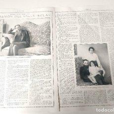 Coleccionismo de Revistas y Periódicos: ENTREVISTA REVISTA ORIGINAL 1915 AL GENIAL ESCRITOR DON RAMON DEL VALLE-INCLÁN. Lote 168418993