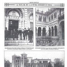 Collezionismo di Riviste e Giornali: 1916 HOJA REVISTA SEVILLA REY ALFONSO XIII FUTURA EXPOSICIÓN PALACIO DE ARTE ANTIGUO CONDE DE URBINA. Lote 168428504