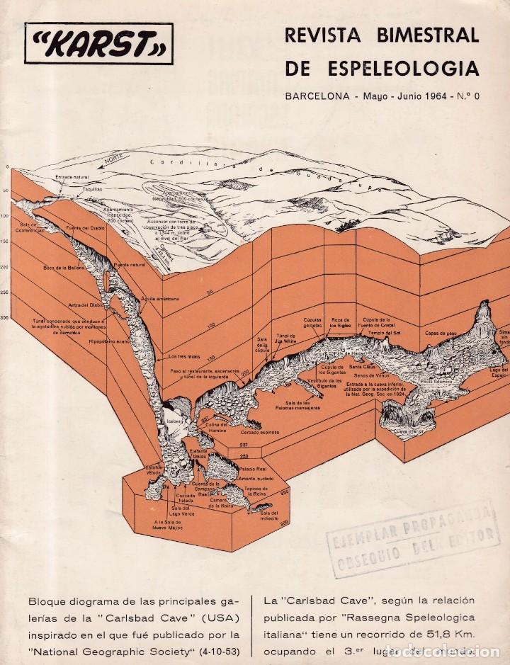 ESPELEOLOGIA - KARST - Nº 0 / MAYO / JUNIO 1964 - OBSEQUIO DEL EDITOR (Coleccionismo - Revistas y Periódicos Modernos (a partir de 1.940) - Otros)