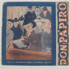 Sammeln von Zeitschriften und Zeitungen - REVISTA DON PÁPIRO - SEMANARIO DE JUEGOS Y PASATIEMPOS - AÑO I - Nº 3 - AÑO 1944. - 168449444
