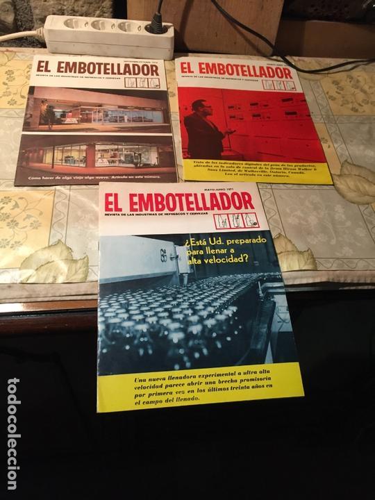 ANTIGUAS 3 REVISTA / REVISTAS EL EMBOTELLADOR REVISTA DE INDUSTRIAS DE REFRESCOS Y CERVEZAS AÑO 1971 (Coleccionismo - Revistas y Periódicos Modernos (a partir de 1.940) - Otros)