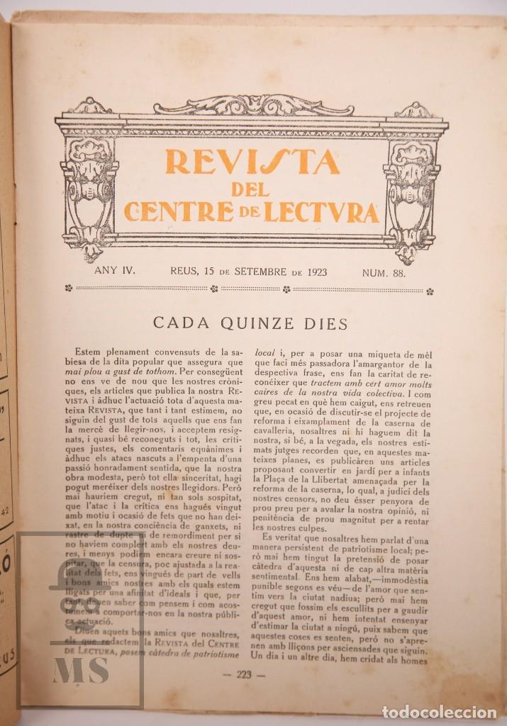 Coleccionismo de Revistas y Periódicos: Antigua Revista del Centre de Lectura de Reus - Any IV, Núm. 88 - Año 1923 - Foto 2 - 168672612