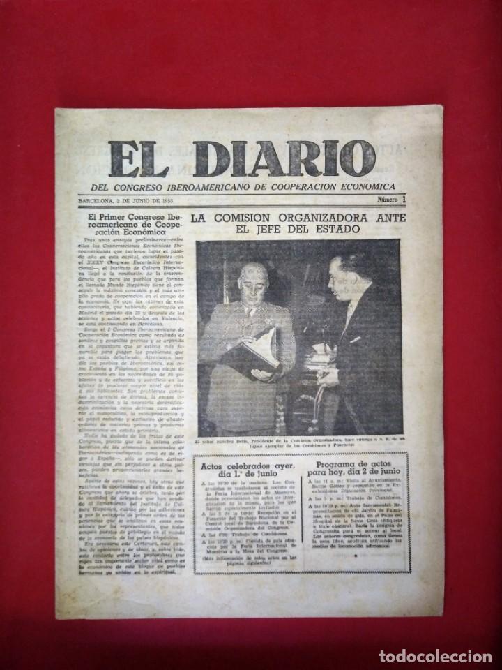 EL DIARIO DEL CONGRESO IBEROAMERICANO DE COOPERACION ECONOMICA N 1 1953 (Coleccionismo - Revistas y Periódicos Modernos (a partir de 1.940) - Otros)