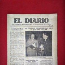 Coleccionismo de Revistas y Periódicos: EL DIARIO DEL CONGRESO IBEROAMERICANO DE COOPERACION ECONOMICA N 1 1953. Lote 168691364