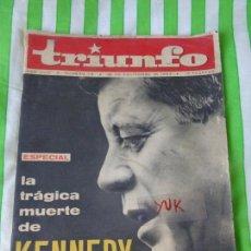 Coleccionismo de Revistas y Periódicos: REVISTA TRIUNFO - Nº 78 - 30 NOVIEMBRE 1963 - ESPECIAL ASESINATO KENNEDY - DALI - CARMEN AMAYA. Lote 168749480