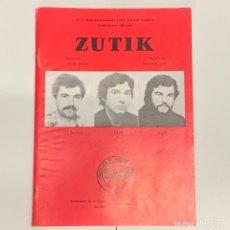 Coleccionismo de Revistas y Periódicos: ZUTIK REVISTA BOLETIN DE ETA PAIS VASCO EUSKALHERRIA EUSKADI TA ASKATASUNA E.T.A. 1978 NUMERO 69. Lote 168809093