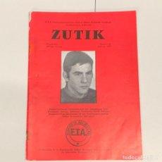 Coleccionismo de Revistas y Periódicos: ZUTIK REVISTA BOLETIN DE ETA PAIS VASCO EUSKALHERRIA EUSKADI TA ASKATASUNA E.T.A. 1977 NUM 68. Lote 168809200