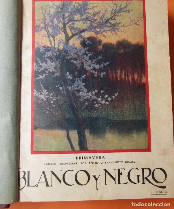 Coleccionismo de Revistas y Periódicos: TOMO DE REVISTAS BLANCO Y NEGRO 1927/1928. - Foto 3 - 168817880
