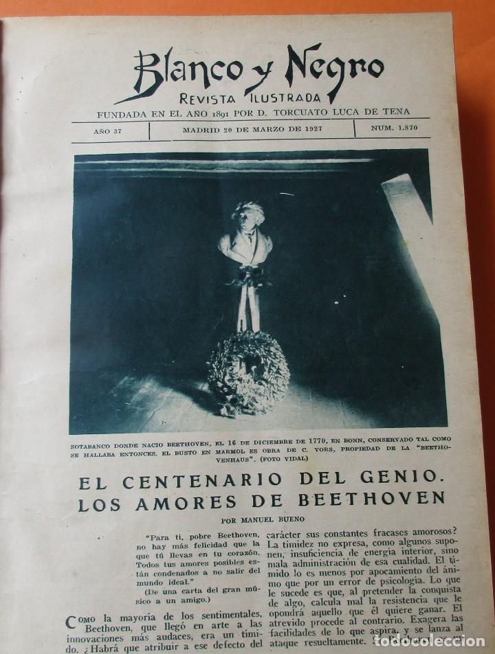 Coleccionismo de Revistas y Periódicos: TOMO DE REVISTAS BLANCO Y NEGRO 1927/1928. - Foto 4 - 168817880