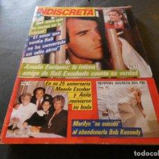 Coleccionismo de Revistas y Periódicos: REVISTA EN BUEN ESTADO TELE INDISCRETA 45 17 DICIEMBRE 1984 RAFI ESCOBEDO. Lote 168854316
