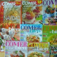 Coleccionismo de Revistas y Periódicos: LOTE 8 REVISTAS COMER BIEN (COMER CADA DÍA) NOS. 81, 87, 112, 124, 142, 143, 144, 150. Lote 169004672