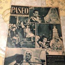 Coleccionismo de Revistas y Periódicos: ANTIGUA REVISTA PASEO BODA DE LOS PRINCIPES DE MONACO AÑO 1956 BARCELONA / MADRID . Lote 169057236