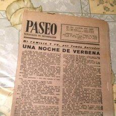 Coleccionismo de Revistas y Periódicos: ANTIGUA REVISTA PASEO SEMANARIO DE INFORMACIÓN 29 JUNIO AÑO 1957. Lote 169058948