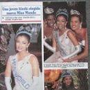 Coleccionismo de Revistas y Periódicos: RECORTE REVISTA SEMANA Nº 2860 1994 MISS MUNDO. AISHWARYA RAI. LUCIA MENDEZ. Lote 169169772