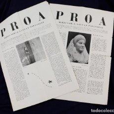 Coleccionismo de Revistas y Periódicos: VANGUARDIA CATALANA - REVISTA PROA. NUM. 0 Y 1. JOAN SALVAT-PAPASSEIT. ORIGINALES.. Lote 169294596