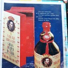 Coleccionismo de Revistas y Periódicos: ANUNCIO BRANDY GRAN DUQUE DE ALBA . Lote 169308864