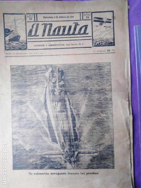 RARISIMO EL NAUTA SUBMARINOS BARCOS MILITARES DE GUERRA MARINA DE GUERRA ESPAÑOLA (Coleccionismo - Revistas y Periódicos Antiguos (hasta 1.939))