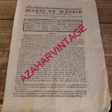 Coleccionismo de Revistas y Periódicos: DIARIO DE MADRID, Nº 13, 13 DE ENERO DE 1825, 4 PAGINAS. Lote 169397516