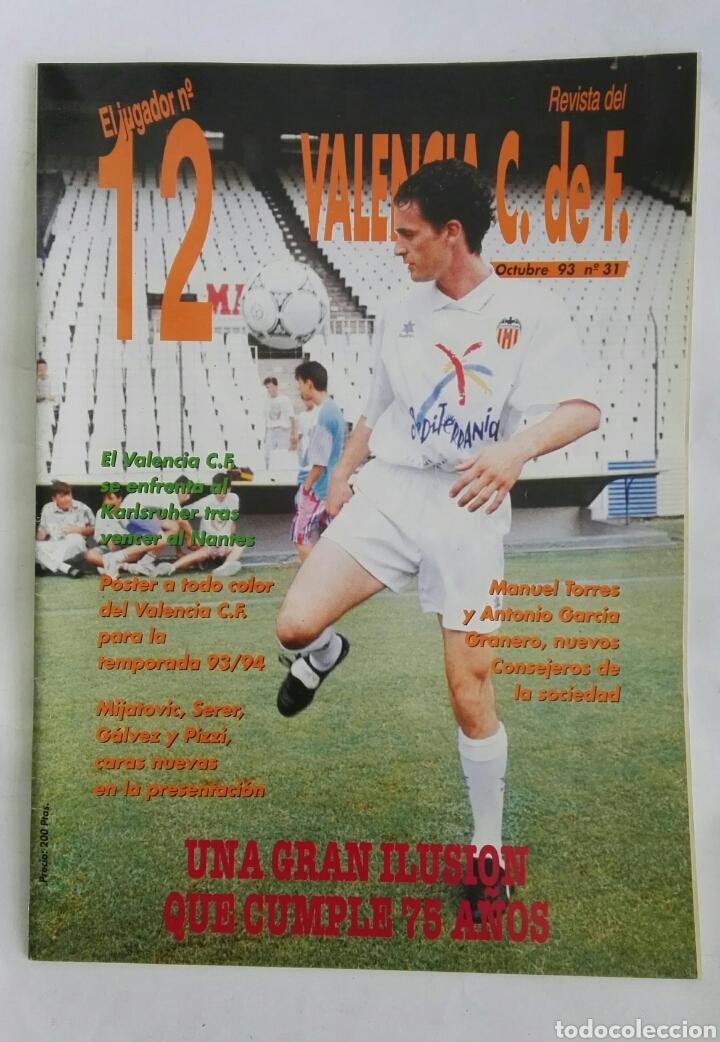 EL JUGADOR N° 12 REVISTA VALENCIA C.F. OCTUBRE 93 (Coleccionismo - Revistas y Periódicos Modernos (a partir de 1.940) - Otros)