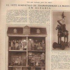 Coleccionismo de Revistas y Periódicos: AÑO 1924 PINTURA FAMILIA DE LAGARTERANAS DE ZUBIAURRE JUEGOS JUGUETES MADERA CASA MUÑECAS TIO VIVO. Lote 169711488