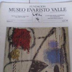 Coleccionismo de Revistas y Periódicos: FUNDACION MUSEO EVARISTO VALLE. BOLETIN Nº 9, AGOSTO 1985. GIJON, 1985. LA VANGUARDIA ESPAÑOLA CONTE. Lote 97023671
